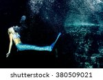 blonde beautiful siren mermaid... | Shutterstock . vector #380509021
