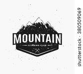 climbing club. adventure... | Shutterstock .eps vector #380509069