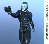 3d cg rendering of a super hero | Shutterstock . vector #380511577
