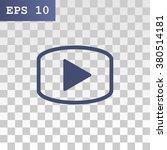 video icon  vector illustration | Shutterstock .eps vector #380514181