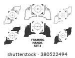 hands making frame for video or ... | Shutterstock .eps vector #380522494