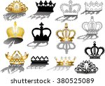 illustration with eleven crowns ... | Shutterstock .eps vector #380525089