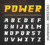 power speed alphabet typography ... | Shutterstock .eps vector #380527261