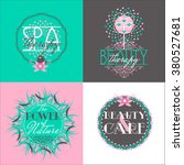 set of  labels for beauty shops ... | Shutterstock .eps vector #380527681