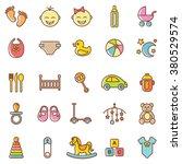 baby  icons set.vector | Shutterstock .eps vector #380529574