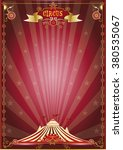 red show circus poster. a... | Shutterstock .eps vector #380535067