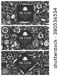food flyer set   kitchen tools  ... | Shutterstock .eps vector #380536534