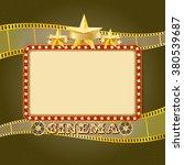 shining light cinema banner.... | Shutterstock .eps vector #380539687