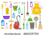 set of cleaning supplies. tools ... | Shutterstock .eps vector #380539705