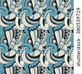 vector seamless wavy pattern | Shutterstock .eps vector #380539729
