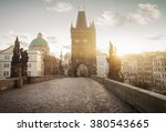 sunrise on charles bridge in... | Shutterstock . vector #380543665