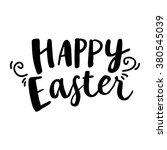 happy easter lettering card.... | Shutterstock .eps vector #380545039