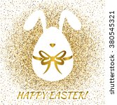happy easter greeting card with ... | Shutterstock .eps vector #380545321