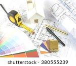 architecture design... | Shutterstock . vector #380555239
