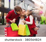 happy father with children have ... | Shutterstock . vector #380564824