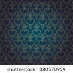 pattern with heart and dagger | Shutterstock .eps vector #380570959