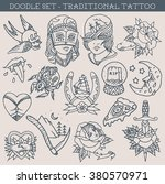 traditional tattoo design... | Shutterstock .eps vector #380570971