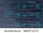 customer profiling  different... | Shutterstock . vector #380571271