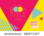 brochure cover with background... | Shutterstock .eps vector #380571397