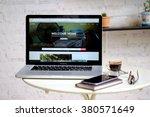 chiang mai  thailand  jan 23... | Shutterstock . vector #380571649
