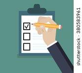evaluation checklist | Shutterstock .eps vector #380583961