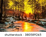 Cold Sunset   Oil Painting ...