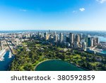 aerial view sydney central... | Shutterstock . vector #380592859