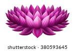 illustration of single lotus ... | Shutterstock .eps vector #380593645