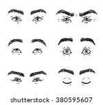 Set Male Eyes  Looks Straight...