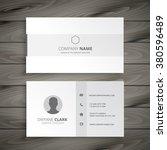 white minimal business card | Shutterstock .eps vector #380596489