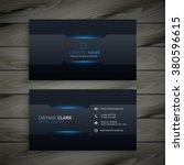 dark business card template | Shutterstock vector #380596615