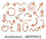 set of hand drawn wax crayon... | Shutterstock .eps vector #380599621