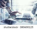 business concept  businessman... | Shutterstock . vector #380600125