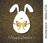 easter greeting card with funny ... | Shutterstock . vector #380612731