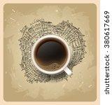 break. hot coffee cup on city ...   Shutterstock .eps vector #380617669