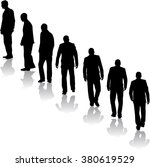 business people. silhouettes... | Shutterstock .eps vector #380619529