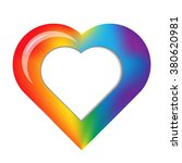 mesh rainbow heart with place... | Shutterstock .eps vector #380620981