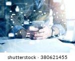 business concept  businessman... | Shutterstock . vector #380621455