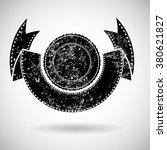 grunge logo label . retro... | Shutterstock .eps vector #380621827