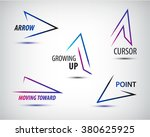 vector set of line colorful... | Shutterstock .eps vector #380625925
