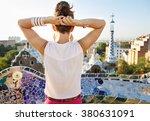 refreshing promenade in unique... | Shutterstock . vector #380631091