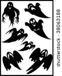 ghosts | Shutterstock .eps vector #38063188