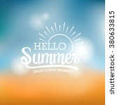 summer typography on sun and... | Shutterstock .eps vector #380633815