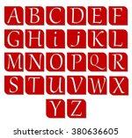 flat icons alphabet | Shutterstock .eps vector #380636605