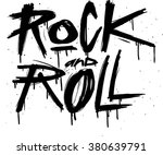 hand draw sketch rock and roll... | Shutterstock .eps vector #380639791