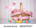 Newborn Baby Girl In A Rabbit...
