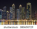 dubai downtown at night on... | Shutterstock . vector #380650729