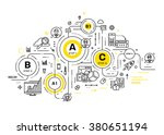 business technology elements... | Shutterstock .eps vector #380651194