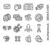 seafood icons set. | Shutterstock .eps vector #380651485