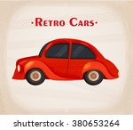 cartoon retro car. vector... | Shutterstock .eps vector #380653264